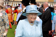 Queen Elizabeth II attends her garden party held at Buckingham Palace on June 10, 2014 in London, England.