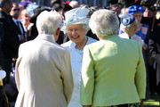Queen Elizabeth II meets guests at a Garden Party at the Palace of Holyroodhouse on July 1, 2014 in Edinburgh, Scotland.