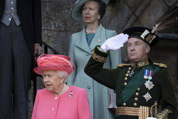 Queen Elizabeth II Princess Anne The Queen Hosts Garden Party At Palace Of Holyroodhouse