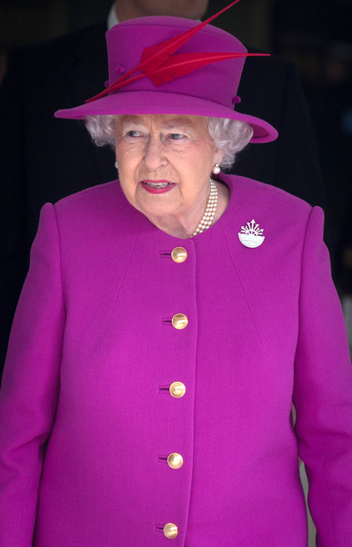 Queen Elizabeth II Arrives at Plymouth Train Station