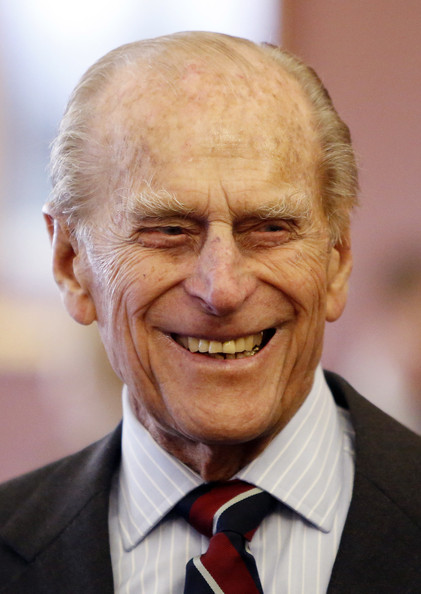 Prince Philip, Duke of Edinburgh is seen during a visit to RAF Lossiemouth on his 67th wedding anniversary on November 20, 2014 in Lossiemouth, Scotland. It was the Queen's first visit to the base since 2003.