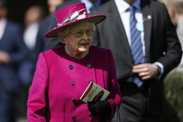 Queen Elizabeth II The Royal Family Attends the Newbury Races
