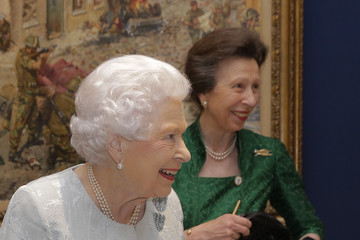 Queen Elizabeth II The Queen & Princess Royal Attend WRNS 100 at the Army & Navy Club