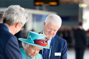 Queen Elizabeth II Queen Elizabeth II Visits Reading Railway Station