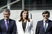 Queen Letizia of Spain attends  'The Inclusion of Disability in News Media' forum at the Ilunion Tower on September 10, 2019 in Madrid, Spain.