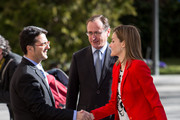 Alfonso Alonso (C) and Queen Letizia of Spain (R) attend the Rare Diseases World Day ceremony at Spanish Senate on March 5, 2015 in Madrid, Spain.