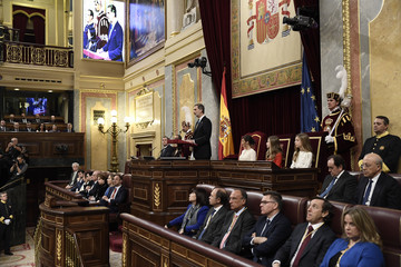 Queen Letizia of Spain King Felipe of Spain Spanish Royals Attend the 14th Legislative Sessions Opening