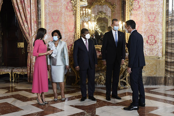 Queen Letizia of Spain King Felipe VI of Spain Spanish Royals Host A Lunch With The President Of Angola
