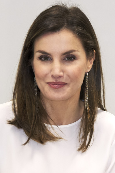 Queen Letizia Of Spain Attends A Meeting With FAD Foundation [eyebrow,beauty,girl,smile,brown hair,long hair,neck,portrait,photo shoot,letizia,members,spain,madrid,fad foundation foundation against drug addiction,iberdrola,meeting,spain attends a meeting with fad foundation]