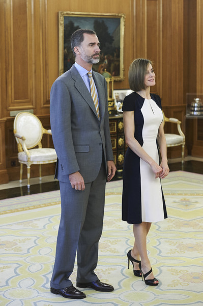 Spanish Royals Attend Audiences in Zarzuela Palace