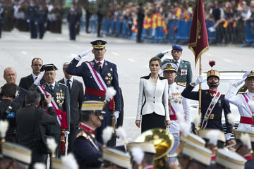 Queen Letizia of Spain Spanish Royals Attend the Armed Forces Day Hommage