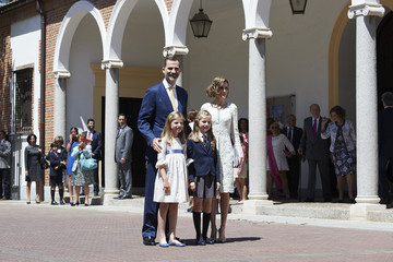 Queen Letizia of Spain Spanish Royals Attend Their Daughter Leonor's First Communion