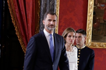 Queen Letizia of Spain Spanish Royals Meet President of Panama and His Wife