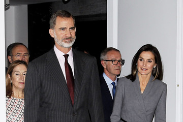 Queen Letizia of Spain Spanish Royals Inaugurate an Exhibition to Commemorate the Anniversary of The Democracy