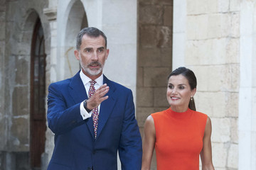 Queen Letizia of Spain Spanish Royals Host A Dinner For Authorities In Palma de Mallorca