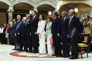Queen Letizia of Spain Spanish Royals Attend The Presentation Of BDE In Madrid