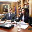 Queen Letizia of Spain Spanish Royals Meet Social Entities On Video Conference