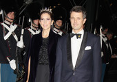 Crown Princess Mary of Denmark and Crown Prince Frederik of Denmark arrive for a Gala Performance at the DR Concert Hall to celebrate Queen Margrethe II of Denmark's 40 years on the throne at City Hall on January 14, 2012 in Copenhagen, Denmark.