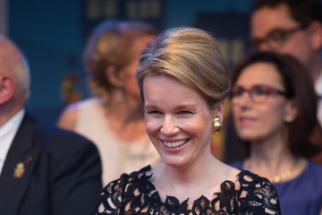 Queen Mathilde of Belgium Belgium Royals Preparations Ahead Of National Day Of Belgium 2014