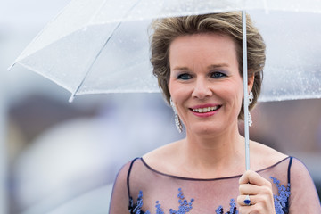 Queen Mathilde of Belgium The King and Queen of Norway Celebrate Their 80th Birthdays with a Banquet at the Opera House
