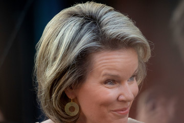 Queen Mathilde of Belgium Queen Mathilde Of Belgium Attends The Global Girls Summit By Plan International in Brussels