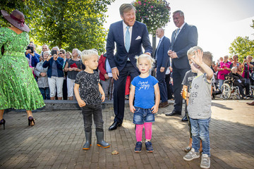 Queen Maxima King Willem-Alexander Of The Netherlands And  Queen Maxima Visit The Salland Region