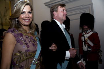 Queen Maxima Crown Prince Frederik Of Denmark Holds Gala Banquet At Christiansborg Palace