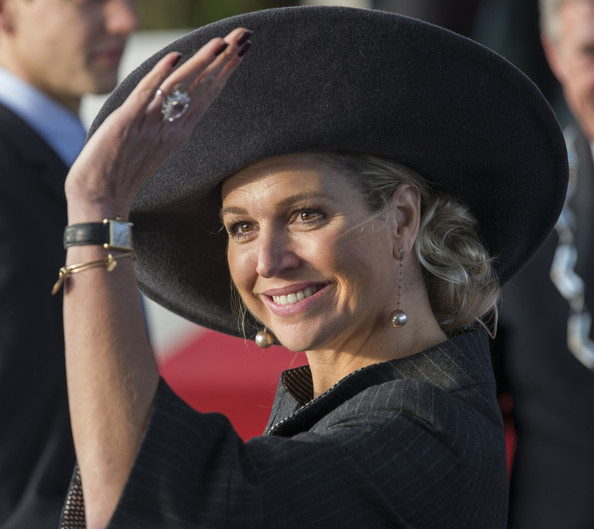 Queen Maxima of The Netherlands opens the Sustainable Industrial Centre Lely Campus on January 30, 2014 in Maassluis, Netherlands.