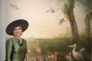 Queen Maxima Queen Maxima Of The Nederlands Opens 'A Royal Paradise' Exhibition  In Dordrecht Museum