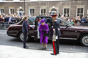 Queen Elizabeth II arrives to open the new premises of the Royal National ENT and Eastman Dental Hospital on February 19, 2020 in London, England.