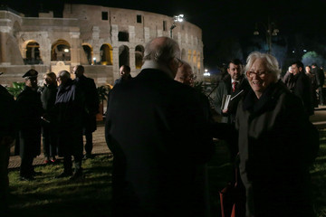 Queen Paola Pope Leads the Stations of the Cross at the Colosseum