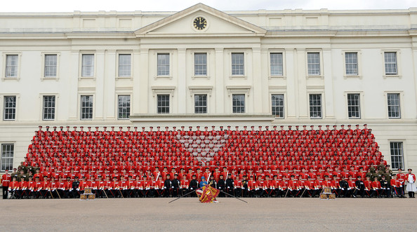 Queen Presents Regimental Colours To The Grenadier Guards