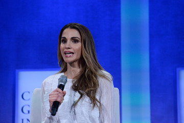 Queen Rania Business And Political Leaders Attend Clinton Global Initiative Annual Meeting