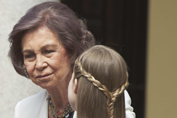 Queen Sofia Spanish Royals Attend Their Daughter Sofia's First Communion