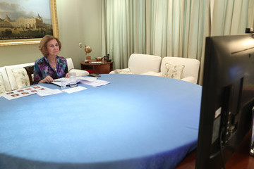 Queen Sofia Queen Sofia Attends A Meeting With 'Queen Sofia Spanish Institute' Members