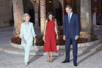 Queen Sofia King Felipe VI of Spain Spanish Royals Host A Dinner For Authorities In Palma De Mallorca
