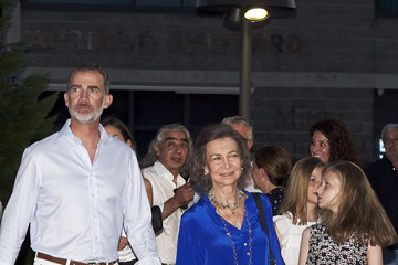 Queen Sofia King Felipe VI of Spain Spanish Royals Attends Ara Malikian Concert