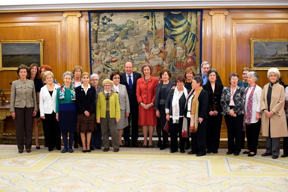 Queen Sofia of Spain Attends Audiences at Zarzuela Palace