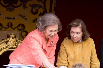 Queen Sofia Spanish Royals Attend Red Cross Fundraising Day