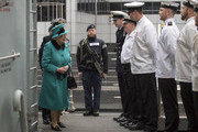 Her Majesty The Queen visited HMS Sutherland in the West India Dock, London.  The Ship will be celebrating the 20th anniversary of her Commissioning.. Her Majesty was greeted by Commander Andrew Canale, MVO, RN. The Queen  entered a marquee where a Reception for the Ship's Company, families, former Commanding Officers and affiliates took place..The Queen then embarked  HMS Sutherland, and met a number of personnel on the upper deck, and had lunch.. The Queen, accompanied by Commander Canale, a former Equerry in Waiting to Her Majesty (2012-15),  joined the Ship's Company on the Flight Deck for a group photograph. Her Majesty The Queen visited HMS Sutherland in the West India Dock, London.  The Ship will be celebrating the 20th anniversary of her Commissioning.Her Majesty The Queen visited HMS Sutherland in the West India Dock, London.  The Ship will be celebrating the 20th anniversary of her Commissioning.he Queen meets the ships chefs.Picture Arthur Edwards