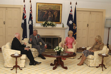 Quentin Bryce Michael Bryce The Prince Of Wales And Duchess Of Cornwall Visit Australia - Day 6