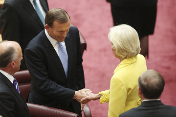 Quentin Bryce Tony Abbott 44th Parliament Opens in Canberra