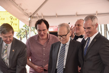 Quentin Tarantino Ennio Morricone Honored With Star on The Hollywood Walk of Fame