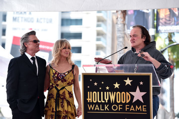 Quentin Tarantino Goldie Hawn and Kurt Russell Are Honored With a Double Star Ceremony on the Hollywood Walk of Fame