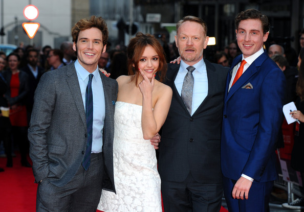 Sam Claflin, Olivia Cooke, Jared Harris and Rory Fleck-Byrne attend the World Premiere of 'The Quiet Ones' at Odeon West End on April 1, 2014 in London, England.