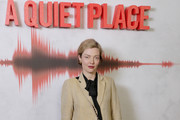 """Camilla Rutherford attends """"A Quiet Place"""" screening at the Curzon Soho on April 5, 2018 in London, England."""