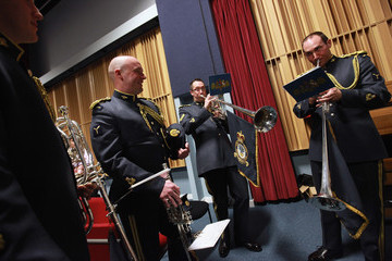 Michael McGowan The RAF Fanfare Trumpeters Practice Ahead Of The Royal Wedding
