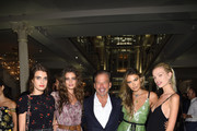 Mackinley Hill, Taylor Hill, CEO Restoration Hardware Gary G. Friedman, Bella Hunter and Daphne Groeneveld attend as RH, Restoration Hardware celebrates the unveiling of RH New York at Restoration Hardware on September 5, 2018 in New York City.