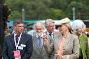 Princess Michael of Kent (front, right) and her husband Prince Michael of Kent (centre) at the RHS Chelsea Flower Show 2019 press day at Chelsea Flower Show on May 20, 2019 in London, England.