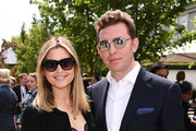 Holly Valance and Nick Candy attends the RHS Chelsea Flower Show 2019 press day at Chelsea Flower Show on May 20, 2019 in London, England.